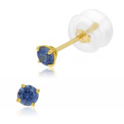 Boucles d'oreilles en or jaune, oxyde de zirconium